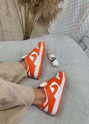 "Женские кроссовки nike dunk low ""ripe orange"".5 фото"
