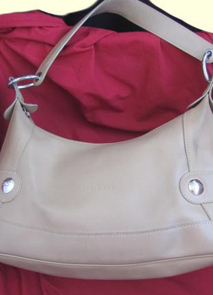 """Кожаная сумка английского бренда """"longchamp"""""""