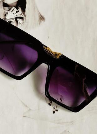 Солнцезащитные очки женские квадратной формы фиолетовый