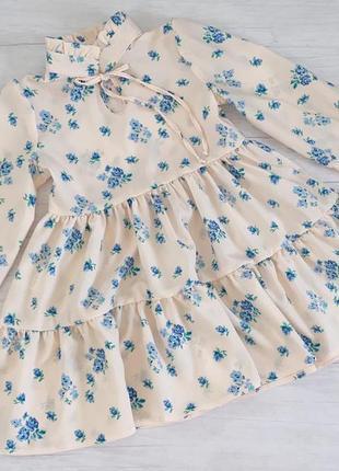 Плаття платье сукня софт в цветочек квіточки воздушное праздничное святкове