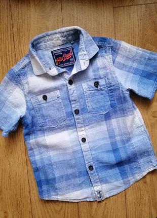Лтняная рубашка шведка next на 3 года
