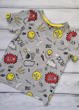 Стильная футболочка primark для мальчика 3-4 лет.