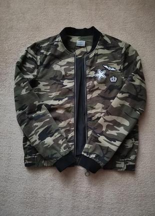 Куртка, бомбер камуфляж
