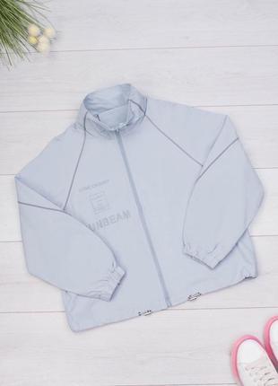 Женская серая голубая ветровка куртка2 фото