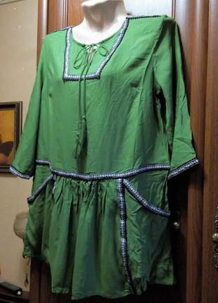 Туника блуза блузка штапель бохо этно народный стиль
