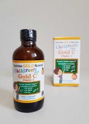 Витамин c для детей california gold nutritionn