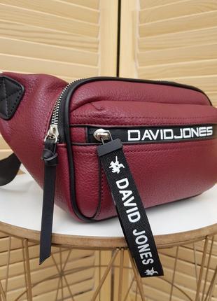 Стильная спортивная женская бананка сумка кроссбоди david jones