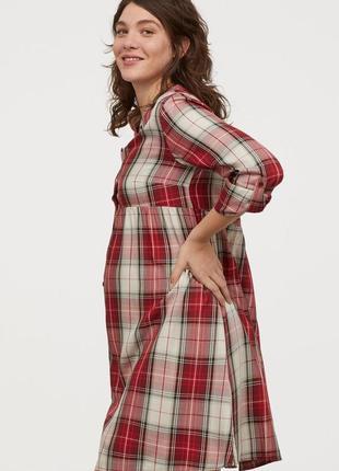 Платье-рубашка в клетку, h&m mama