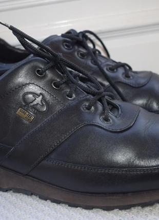 Кожаные туфли мокасины полуботинки aku gore tex vibram р.47 31 см италия