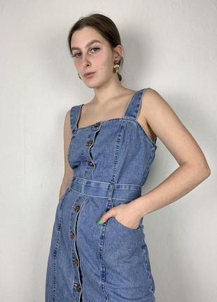 Джинсовое платье, джинсовый комбинезон
