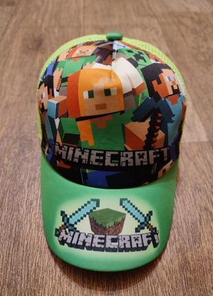 Летняя кепка бейсболка minecraft майнкрафт