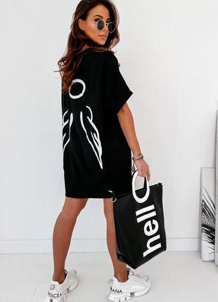 Платье-футболка 2 цвета (с,м, л, хл) , летнее платье, длинная футболка (арт 318)