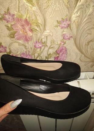 Классические туфли туфельки эко замша, босоножки