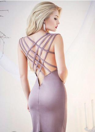 Платье с переплетом на спине м. платье с открытой спиной. модное платье 2017.
