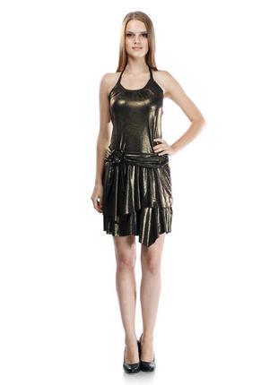 Коктейльное платье, цвет бронза, kiabi, франция р.46-48 наш