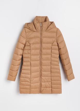 Удлиненная демисезонная куртка с капюшоном reserved