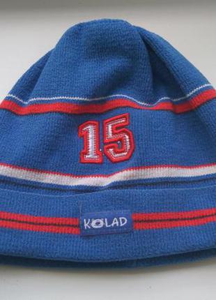 Стильная шапка шапочка деми для мальчика 3-6 лет kolad польша
