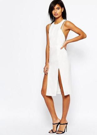 Платье-футляр миди из крепа asos