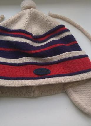 Демисезонная детская шапочка для мальчика grans польша на завязках
