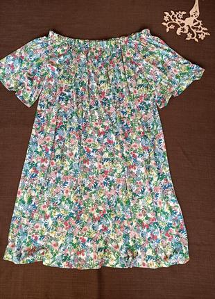 Платье в цветочный принт от h&m. размер s-м-л. состояние нового. распродажа !2 фото