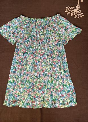 Платье в цветочный принт от h&m. размер s-м-л. состояние нового. распродажа !3 фото