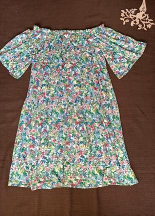 Платье в цветочный принт от h&m. размер s-м-л. состояние нового. распродажа !4 фото