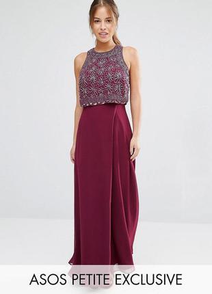Новорічний розпродаж !!! платье макси с укороченным топом asos petite