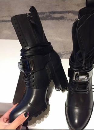 Casadei брендовые ботинки осень-весна кожа size 35-41