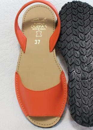 Яркие кожаные испанские менорки, сандалии, босоножки, оригинал4 фото
