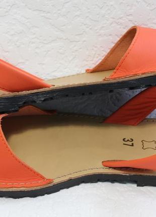 Яркие кожаные испанские менорки, сандалии, босоножки, оригинал3 фото