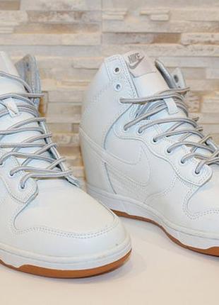 Сникерсы белые  / сникерсы  / кроссовки высокие