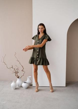 Платье на пуговицах1 фото
