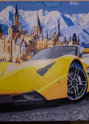 Декоративная картина панно пейзаж 40х50 см акриловые краски