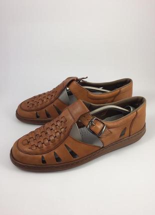 Кожаные босоножки сандалии rieker