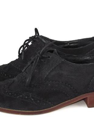 Туфли оксфорды, office london, британия, натуральная замша