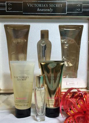 Лосьон, парфюм духи и гель для душа heavenly  от victoria's secret в наборе