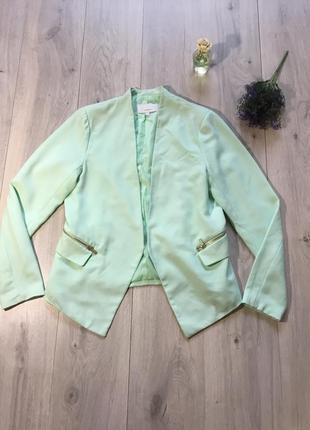 Фирменный мятный пиджак zebra, размер м- l