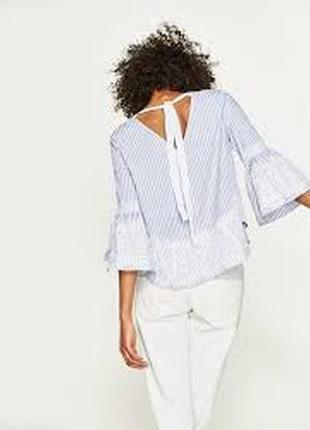Шикарная блуза с кружевом zara