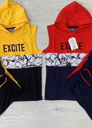 Скидка! летний костюм, комплект для мальчика, майка и шорты