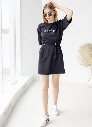 Красива зручна спортивна коротка сукня,плаття з вишивкою wong