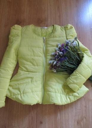 Яркая осенне -весенняя курточка