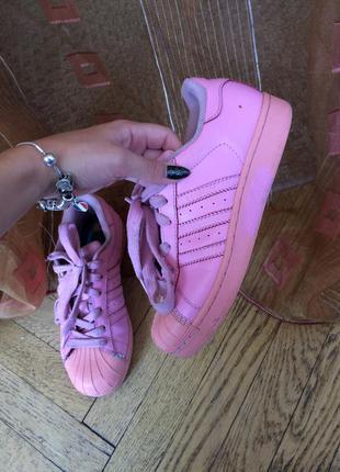Кроссовки кеды женские оригинал adidas superstar розовые