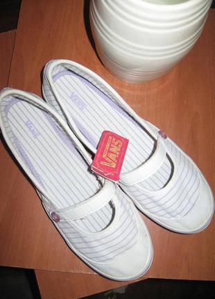 Слипоны туфли-балетки vans 100 % оригинал.