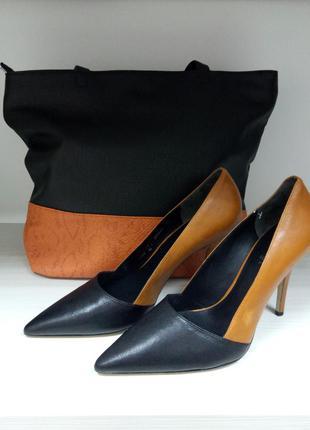Туфли/кожаные/весенние/ удобные/бренд  hogl/классика/ 40 размер2