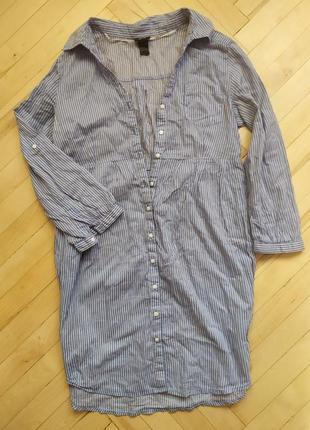 Летняя удлиненная рубашка халат
