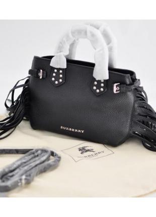 Кожаная сумка burberry, брендовая