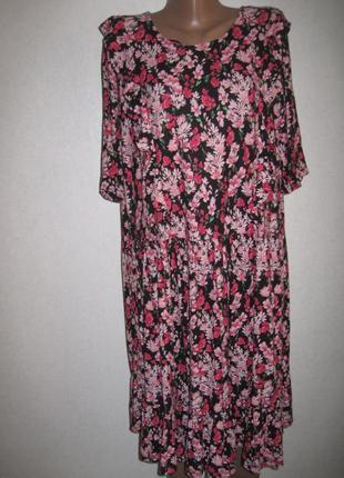 Свободное вискозное платье f&f р-р22