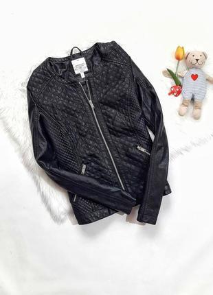 Стильная стеганая куртка, размер s/м, состояние идеальное
