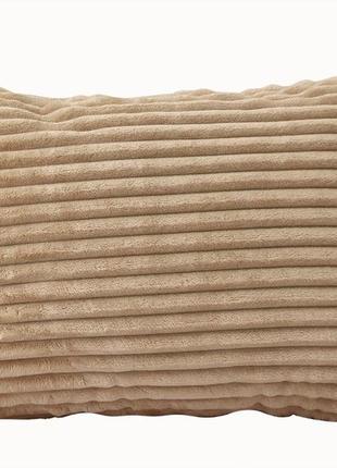 Наволочка декоративная на молнии (велсофт) 40×60 см, подушка