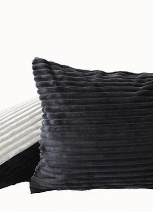 Наволочка декоративная на молнии (велсофт) 40х60 см, подушка